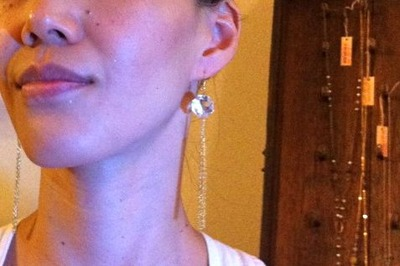 luster earrings & me