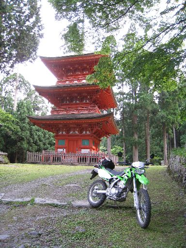 20090612_KLX氷ノ山林道_名草神社