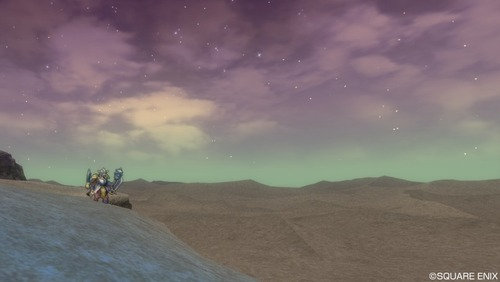 ヘルクラッシャーと砂漠と星空