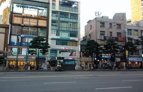 韓国の街 素材