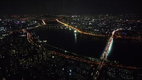 漢江 ハンガン ソウル 夜景 素材