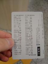 1月12日 SCSIS券売機・改札機・精算機設置調査時の 1DAYカードの裏面