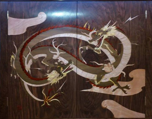 marquetry dragon