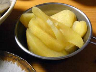 リンゴの白ワイン煮