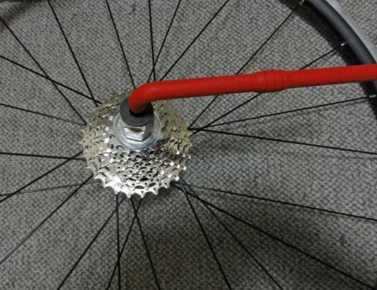自転車の 自転車 ロックリング回し : ... ロックリング回しセットし