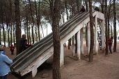 b石の滑り台