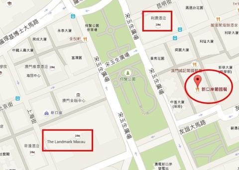 新口岸葡國餐   Google マップ