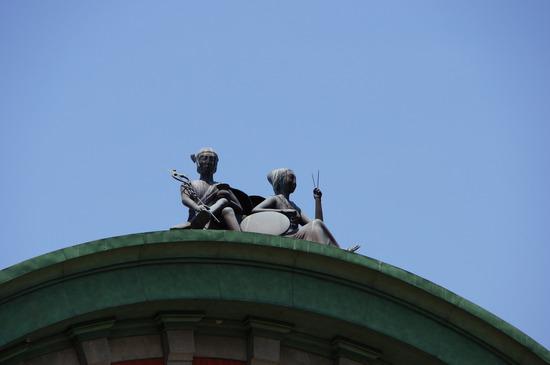 大阪市中央公会堂のてっぺんの何か
