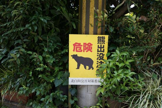 危険 熊出没注意