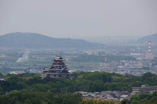 大岩山展望所からの伏見桃山城