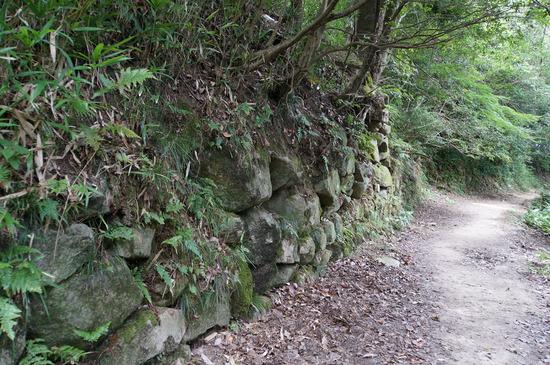 飯盛城石垣跡