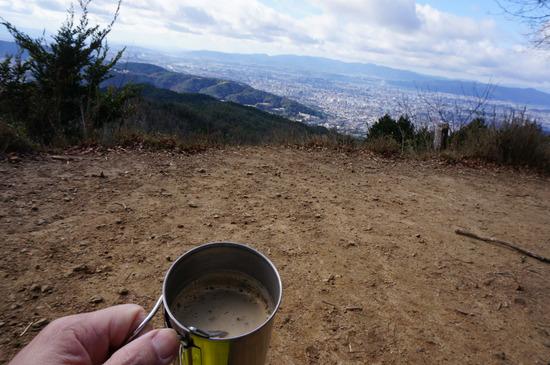 頂上でコーヒー