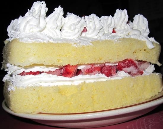 デコレーションケーキ 横から