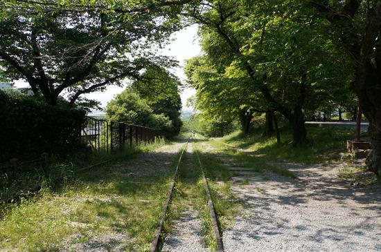 インクラインの線路
