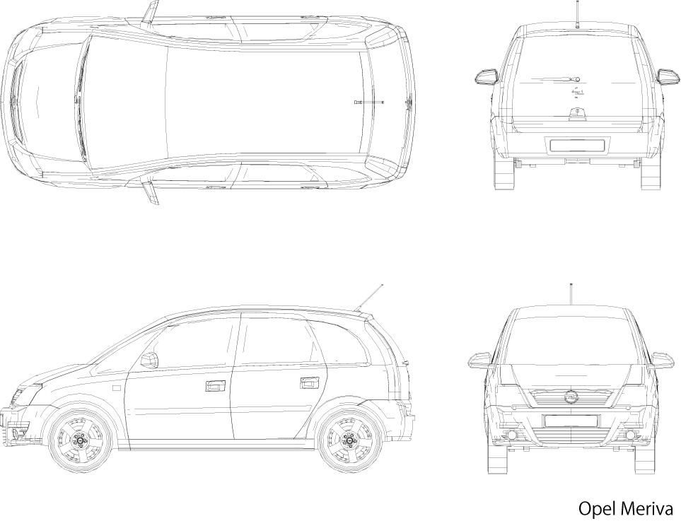 自動車、乗用車、普通車 CADデータ
