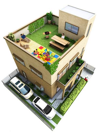 住宅修正画像