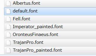 fontのファイル