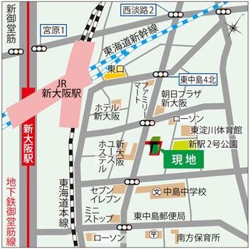 shinosaka map