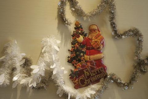 クリスマス壁飾り