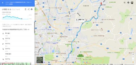 大仏鉄道遺構巡りルートマップ