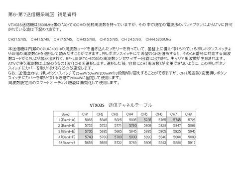 第6・第7送信機系統図補足資料