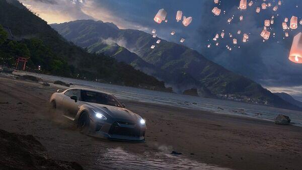 【朗報】『Forza Horizon5』舞台がついに日本になる?背後には鳥居が写る