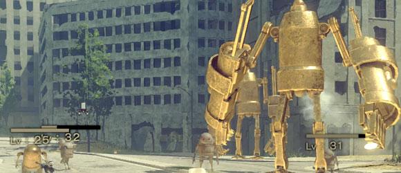 ニーアオートマタ攻略 イベント「黄金色のロボ」特異機械生命体 ポッド強化素材入手 NieR:Automata
