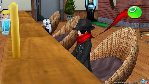 おうぎ君、Barアーテル来店