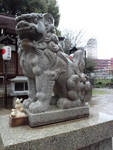 狛犬withネズミ