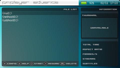 あっとま くpsp pmplayer advance build 20090205 livedoor blog