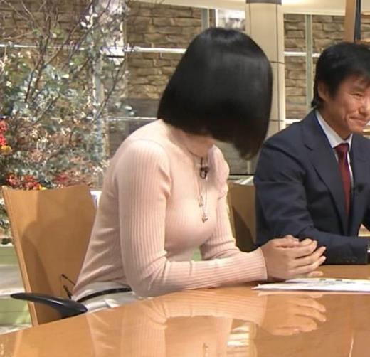 竹内由恵アナ 終始ニットおっぱいがエロかったよ!