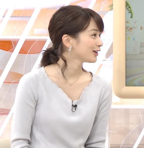 高見侑里アナ きれいな白い肌の胸元