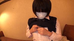 【JKビッチ】援交感↑↑マスクで顔を隠せばOKなJKのフェラチオアルバイトwww 表紙