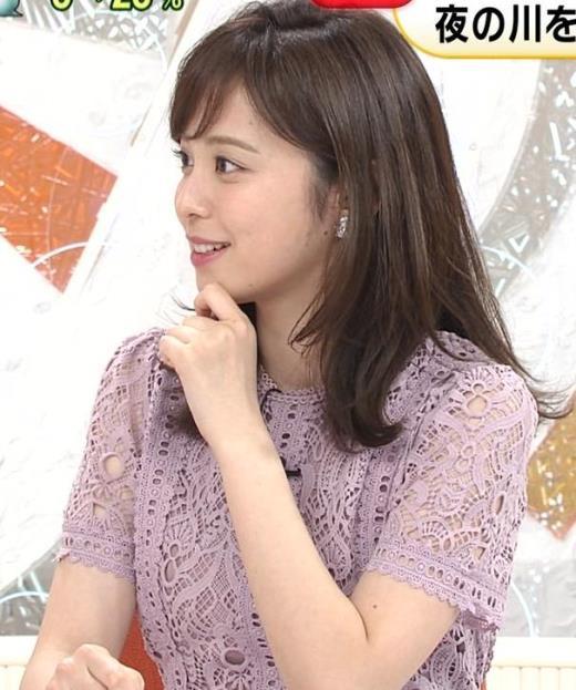 久慈暁子アナ 透け透けなレースのワンピース