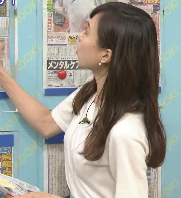 笹川友里アナ 美人アナの横乳