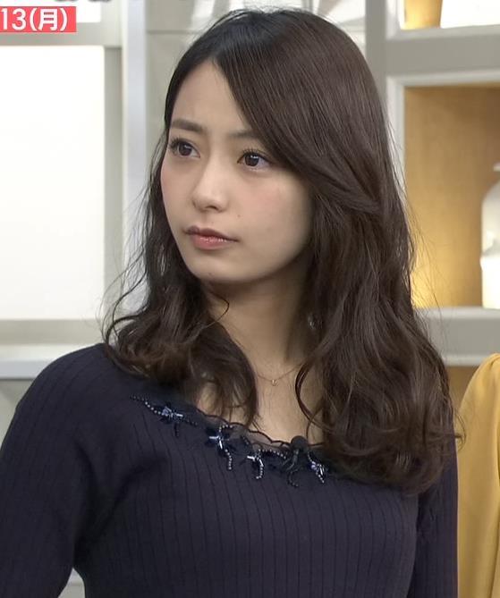 宇垣美里アナ ニットおっぱい♡かわいい顔