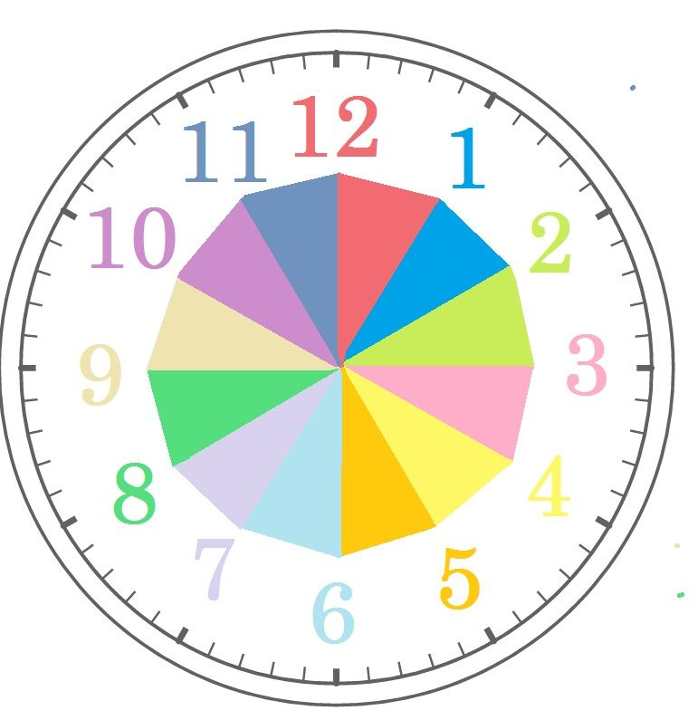 時計イラスト 針なし文字盤 ...