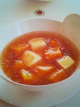 ウー・ウェンさんのかぼちゃと豆腐の酸辣湯
