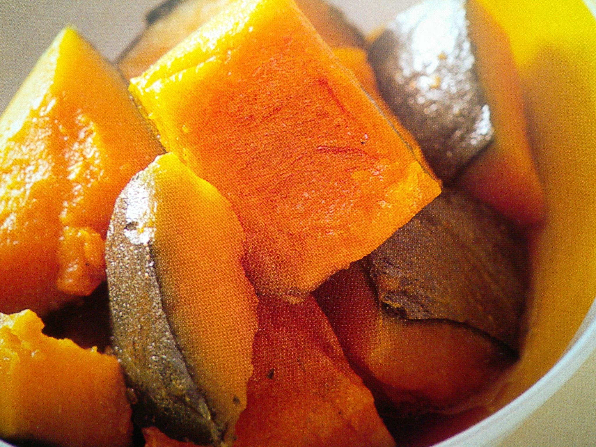 小林カツ代さんの冷凍かぼちゃの甘辛煮