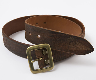 BF-12-053 RAGTIME LEATHER BELT BROWN SUEDE 1