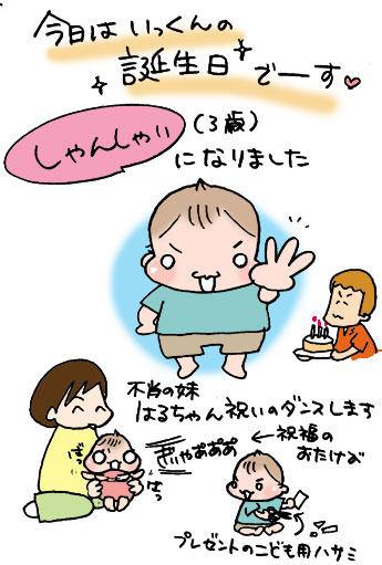ぷにんぷ妊婦  *ブログで描く我が子の毎日*-birthday