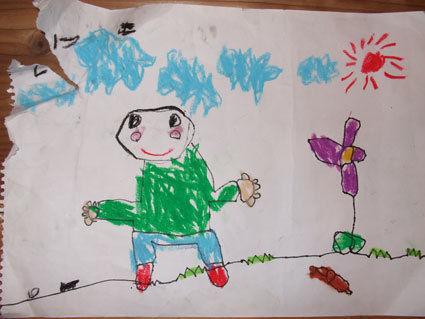 ぷにんぷ妊婦  *ブログで描く我が子の毎日*-いっくんの絵