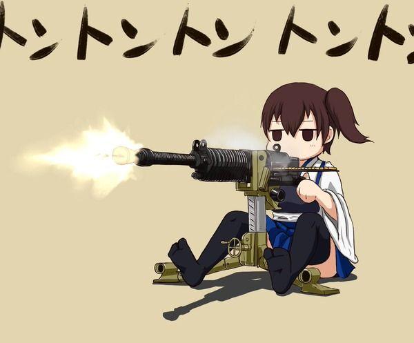 【艦これ】九二式重機関銃をご機嫌そうにぶっ放す加賀さん 他なごみネタ