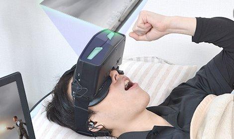 寝ながら使えるヘッドマウントディスプレイが2万円の低価格で登場!ダメ人間になる~(^q^)