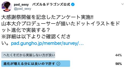 【パズドラ】山本Pドット進化アンケ、賛成派が勝利!!