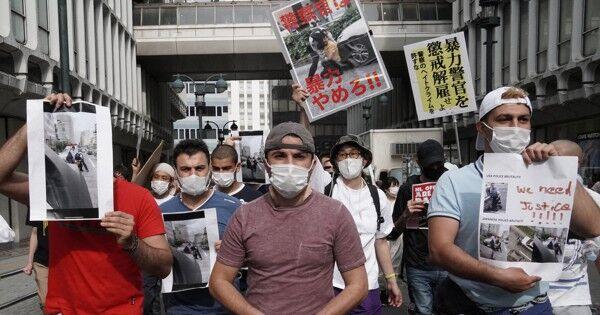 日本の警察官がクルド人を暴行したとする動画が拡散、警察署を取り囲むデモに発展してしまう