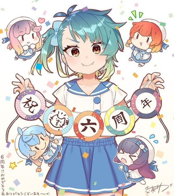 【艦これ】赤坂ゆづ氏から可愛い海防艦の六周年記念イラストが到着!