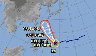 【悲報】 台風18号、来週にも日本列島直撃の恐れアリ