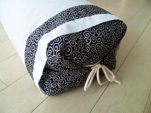 蕎麦がらの出し入れ便利なファスナー付き幅90センチの坊主枕-2