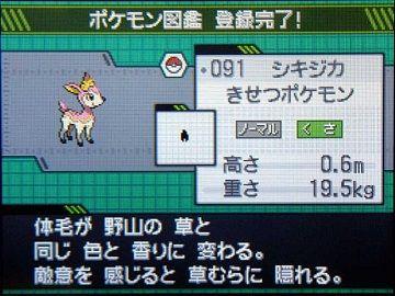 ポケモンBW030シキジカGET★